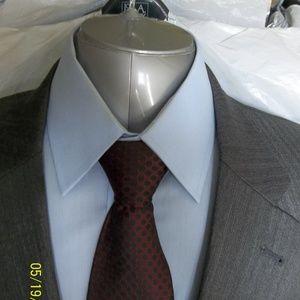 Soto33- 40- Jos A Bank Lt Gray Solid Suit